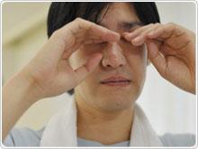 目 花粉 腫れる で が